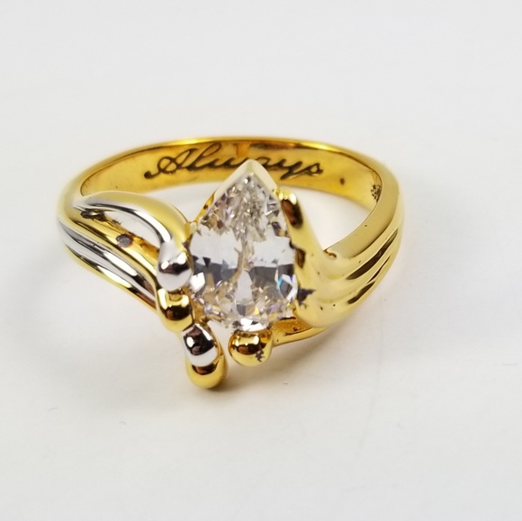 "The Bradford Exchange Jewelry - ""Always Crystal Teardrop"" Bereavement Ring"
